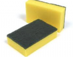 5SS Sponge Scourers Green / Yellow